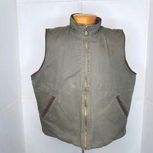 Vintage Wrangler Hero Sherpa Lined Canvas Vest XL